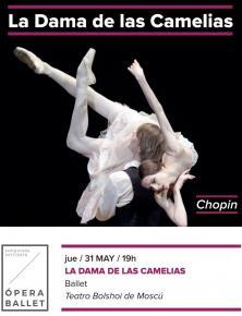 8. LA DAMA DE LAS CAMELIAS - Ballet <br> Ju. 31 May. 19:00 en <bR> ABC PARK y ABC ELX