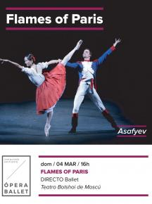 8. THE FLAMES OF PARIS - Ballet en Directo <br> Do. 4 Mar. 16:00 h. en ABC PARK y ABC ELX