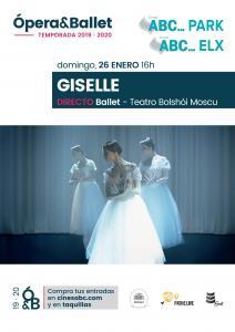 2. GISELLE - Directo Ballet  Do. 26 Ene. 16:00 h. en ABC PARK y ABC ELX